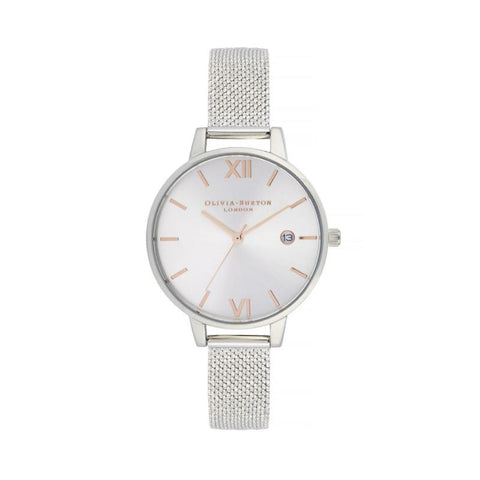 Olivia Burton Ladies' Sunray Demi Dial with Boucle Mesh Watch OB16DE01