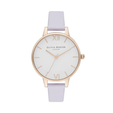 Olivia Burton Ladies' Demi White Dial Parma Violet & Pale Rose Gold Watch OB16DE09