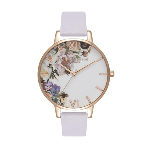 Olivia Burton Ladies' Enchanted Garden Parma Violet & Rose Gold Watch OB16EG110