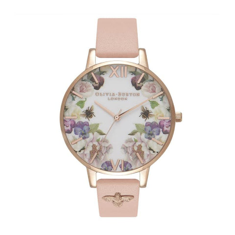 Olivia Burton Ladies' Enchanted Garden Dusty Pink & Rose Gold Watch OB16EG111