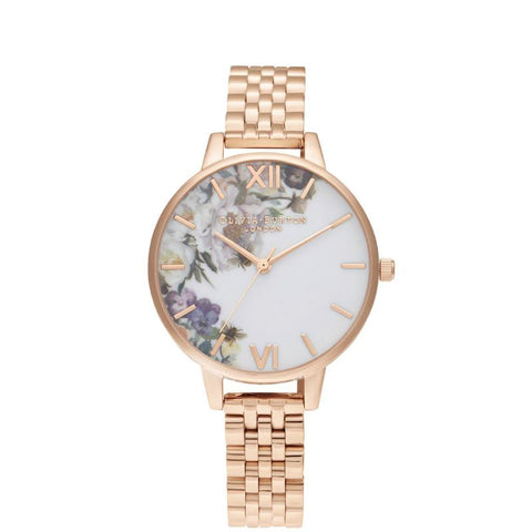 Olivia Burton Ladies' Enchanted Garden Demi Rose Gold Bracelet OB16EG135