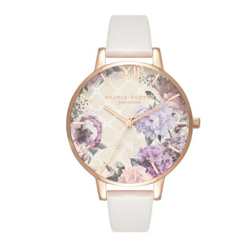 Olivia Burton Ladies' Glasshouse Blush Leather Strap Watch OB16EG97
