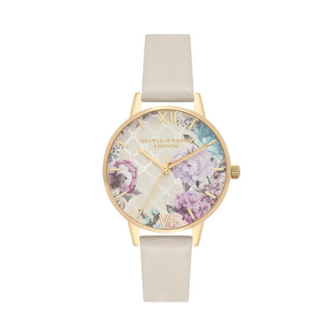 Olivia Burton Ladies' Glasshouse Nude & Gold Watch OB16EG99