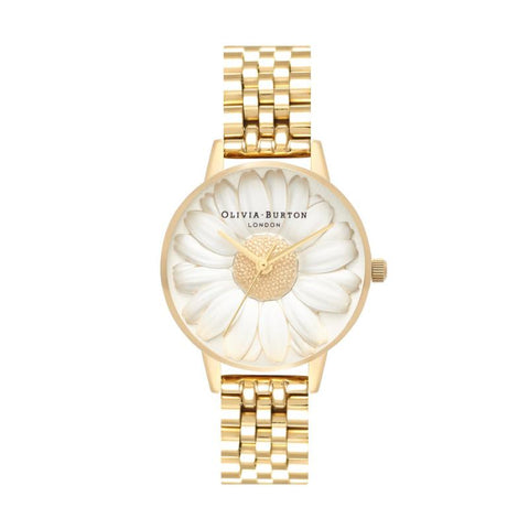 Olivia Burton Ladies' 3D Daisy Gold Bracelet Watch OB16FS100