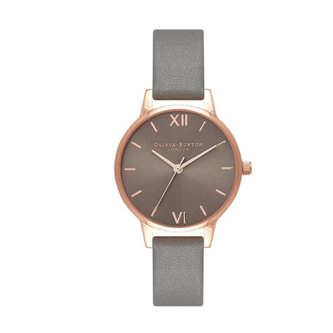 Olivia Burton Ladies' Midi Dial Grey And Rose Gold Watch OB16MD78