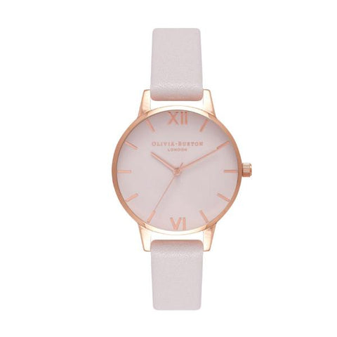 Olivia Burton Ladies' Midi Blush Leather Strap Watch OB16MD82