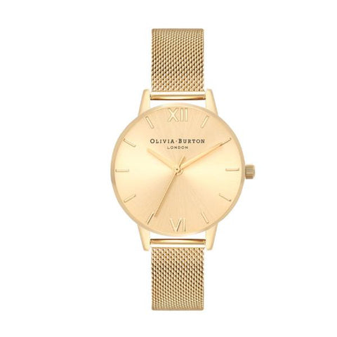 Olivia Burton Ladies' Sunray Yellow Gold Ion Plated Stainless Steel Strap Watch OB16MD85