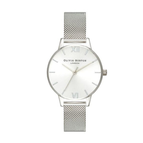 Olivia Burton Ladies' Sunray Silver Stainless Steel Bracelet Watch OB16MD86