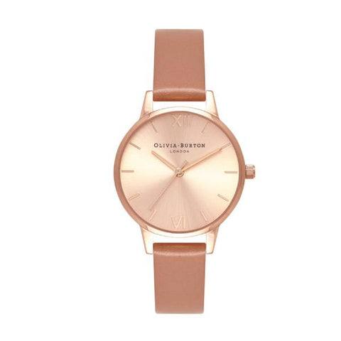 Olivia Burton Ladies' Sunray Sand Leather Strap Watch OB16MD88