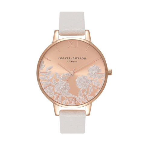 Olivia Burton Ladies' Lace Detail Blush & Rose Gold Watch OB16MV53