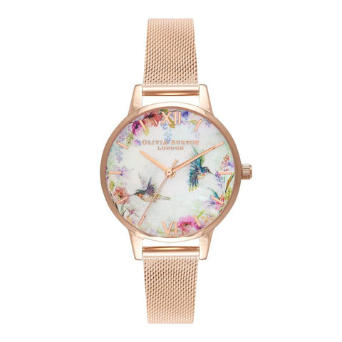 Olivia Burton Ladies' Painterly Prints Rose Gold Watch OB16PP49