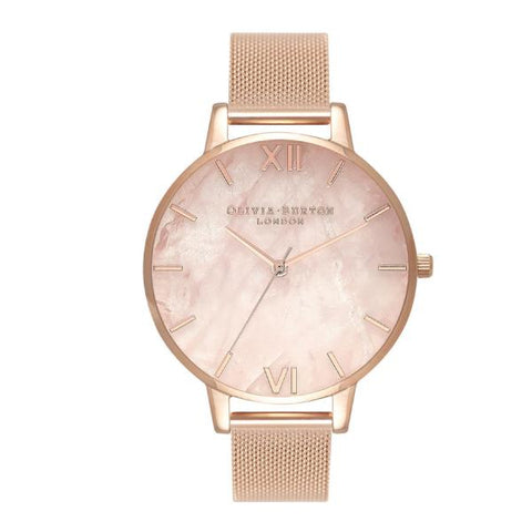 Olivia Burton Ladies' Semi Precious Rose Gold Ion-Plated Stainless Steel Band Watch OB16SP01