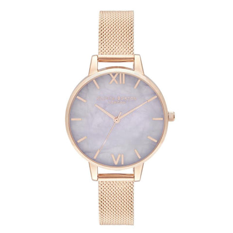 Olivia Burton Ladies' Demi Amethyst Rose Gold Watch OB16SP16