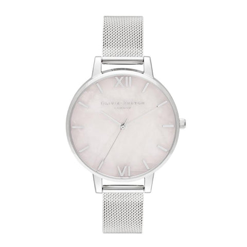 Olivia Burton Semi Precious Silver 38mm Women's Watch OB16SP18