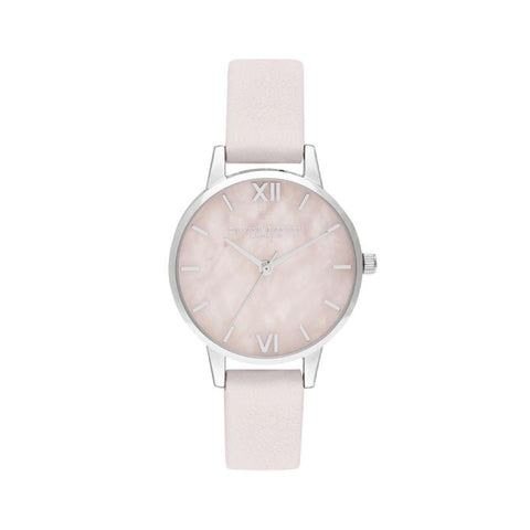 Olivia Burton Ladies' Midi Rose Quartz Blossom & Silver Watch OB16SP19