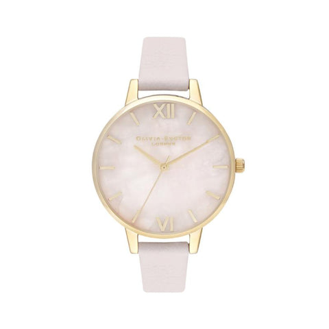 Olivia Burton Ladies' Midi Rose Quartz Blossom & Silver Watch OB16SP20