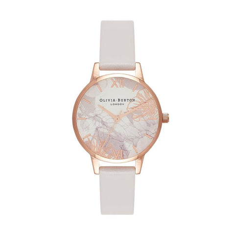 Olivia Burton Ladies' Abstract Floral Blush & Rose Gold Watch OB16VM12