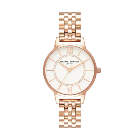 Olivia Burton Ladies' Wonderland Bracelet, Rose Gold Watch OB16WD70