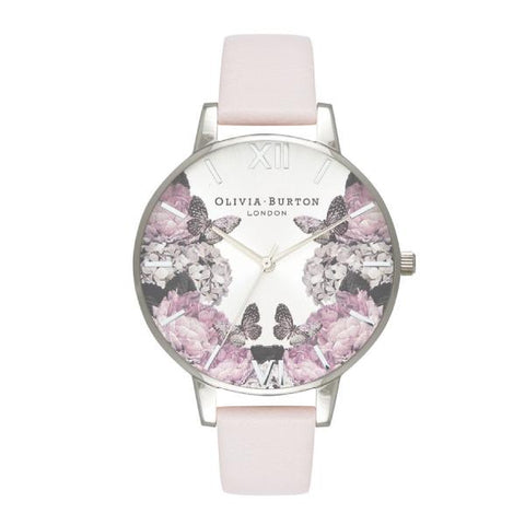 Olivia Burton Ladies' Signature Florals Blush Leather Strap Watch OB16WG51