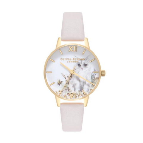 Olivia Burton Ladies' Vegan Friendly Nude Leather Strap Watch OB16WL67