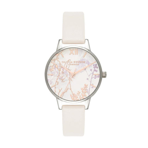 Olivia Burton Ladies' Illustrated Animals Vegan Bunny, Blush, Rose Gold & Silver Watch OB16WL71