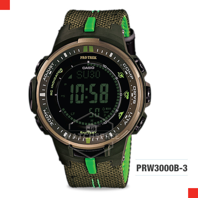 Casio Pro Trek Watch PRW3000B-3D