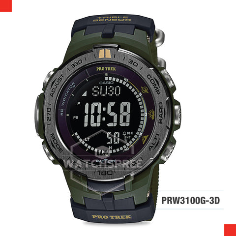 Casio Protrek Watch PRW3100G-3D