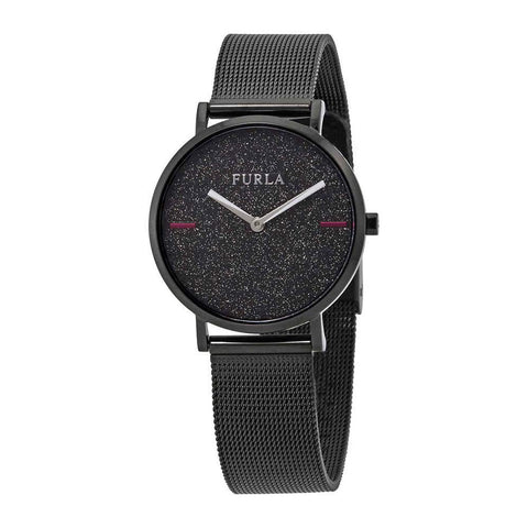 Furla Giada Date Black Sparkle Dial 33 mm Ladies Mesh Watch R4253122504