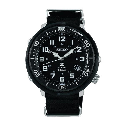 Seiko Prospex (Japan Made) Fieldmaster LOWERCASE Special Edition Black Canvas Strap Watch SBDJ027J (Not for EU Buyers)