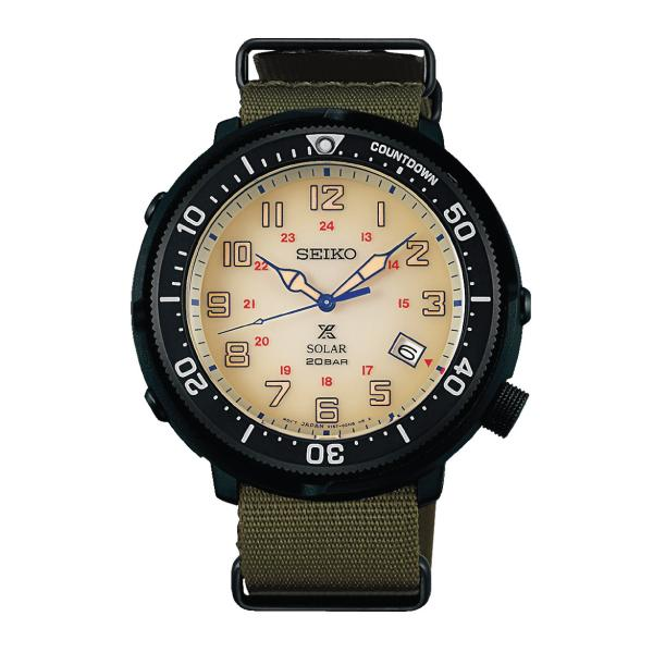 Seiko Prospex (Japan Made) Fieldmaster LOWERCASE Special Edition Green Canvas Strap Watch SBDJ029J (Not for EU Buyers)