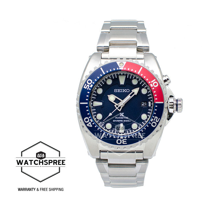 Seiko Prospex Kinetic Diver's Stainless Steel Band Watch SKA369P1 (Not for  EU Buyers)