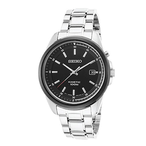 Seiko Men's Kinetic Silver Stainless Steel Watch SKA679P1