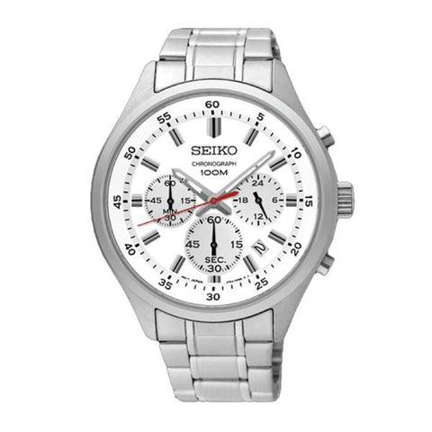Seiko Chronograph Silver Stainless Steel Band Watch SKS583P1