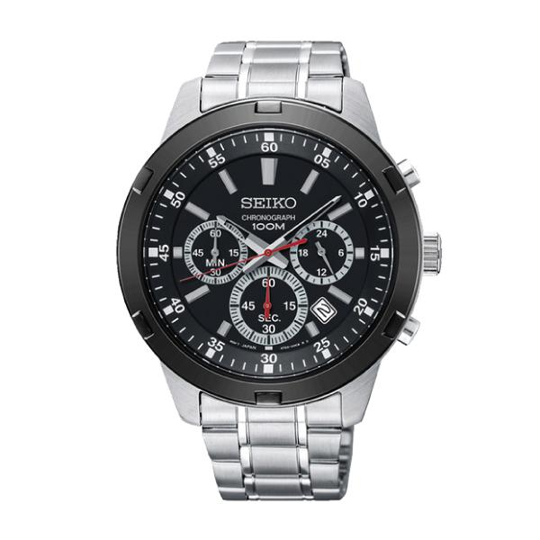 Seiko Chronograph Silver Stainless Steel Band Watch SKS611P1