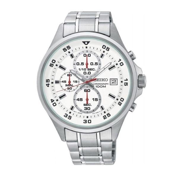 Seiko Chronograph Silver Stainless Steel Band Watch SKS623P1