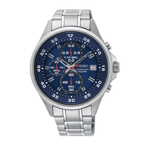 Seiko Chronograph Silver Stainless Steel Band Watch SKS625P1