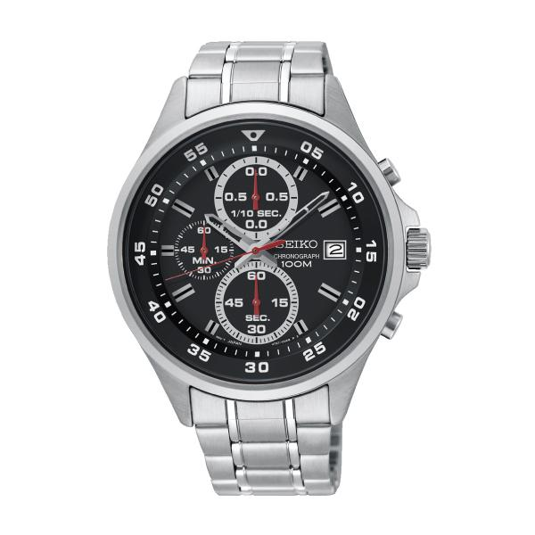 Seiko Chronograph Silver Stainless Steel Band Watch SKS627P1