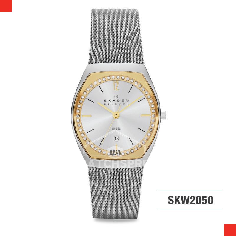 Skagen Ladies Asta Silver Steel Mesh Watch SKW2050