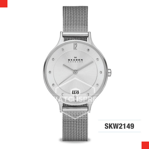Skagen Ladies Anita Silver Dial Stainless Steel Ladies Watch SKW2149
