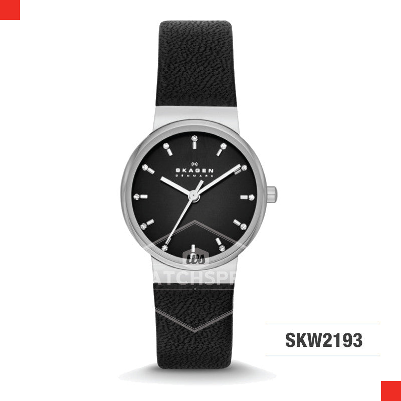 Skagen Ladies Archer Black Leather Watch SKW2193