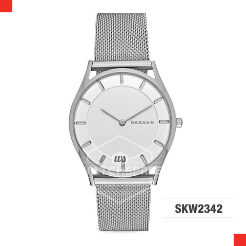 Skagen Ladies Holst Silver Slim Steel Mesh Watch SKW2342