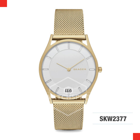 Skagen Ladies Holst Slim Gold Tone Steel Mesh Watch SKW2377