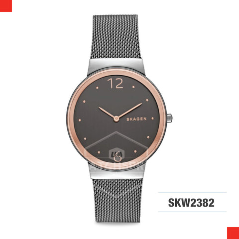 Skagen Ladies Freja Grey Steel Mesh Watch SKW2382