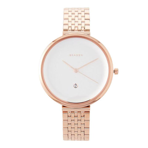 Skagen Ladies' Gitte Rose Gold Stainless Steel Bracelet Watch SKW2421