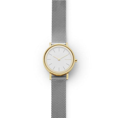 Skagen Ladies' Hald Two Tone Stainless Steel Mesh Bracelet Watch SKW2445