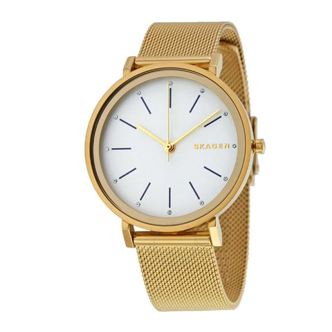 Skagen Ladies' Hald Gold PVD Steel Mesh Bracelet Watch SKW2509