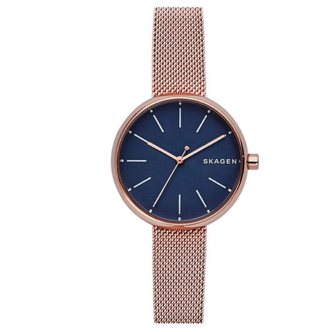 Skagen Ladies' Signature Rose Gold Stainless Steel Band Watch SKW2593