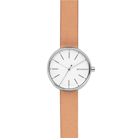 Skagen Ladies' Signature Tan Leather Strap Watch SKW2594