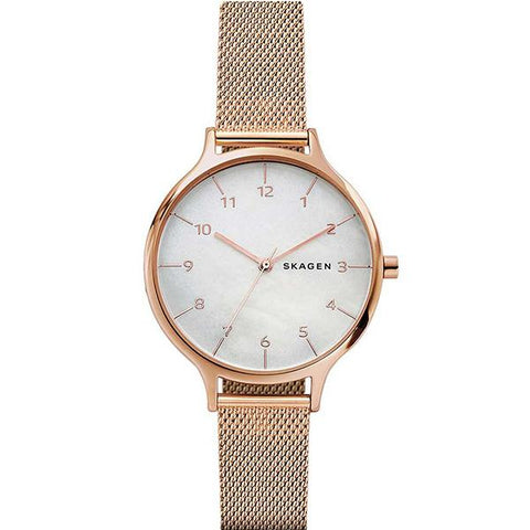 Skagen Ladies' Anita Rose Gold Tone Steel Mesh Watch SKW2633