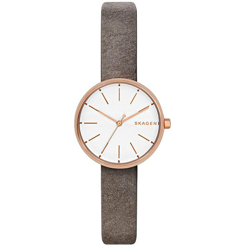 Skagen Ladies' Signatur Grey Leather Watch SKW2644